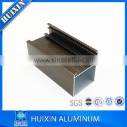 anodized silver aluminum profile to make casement window frame