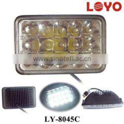 "Square 5 inch led headlight for tractor led work light 12V 24V 5"" 4x6 led headlight for truck"