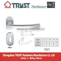 TH017:Guang Dong Stainless Steel Hollow Door Handle with Escutcheon