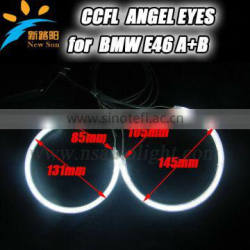 Factory direct sale 12V CCFL angel eyes inverter 4rings 131mm& 145mm ccfl angel eyes ring lighting for BMW E46 A+B NON projector