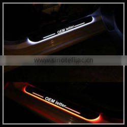 new trending non strainless steel led welcome door scuff for honda led door sill scuff plate light led door step light