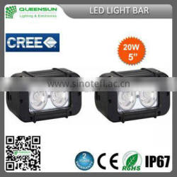 9-32V 5 inch Factory price 20w led light bar LED Chip build-in
