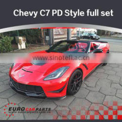 Professional tuning Prior-design PD style FRP & carbon fiber material full body kit fit for Chevrolet Corvette stingray C7