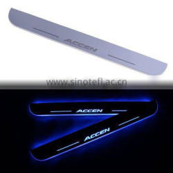 2 Pcs/Set Car LED Flash Door Sills Moving Scuff Plate Light Panel Front Door For Hyundai Accent 2012 2013 2014 2015 2016