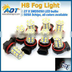 Auto car fog light H8 SMD5050 27w led side light