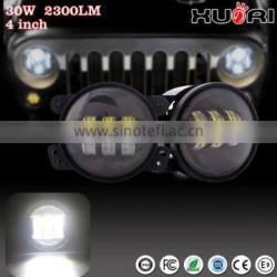 "Latest design 3"" Round headlight12V 24V high low beam H4 Motorcycle led headlight for J eep Wrangler"