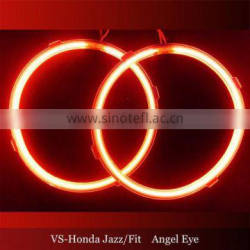 wholesale 12v red color led headlight xenon lamp ccfl angel eyes For Honda Jazz Fit cars halo rings kit