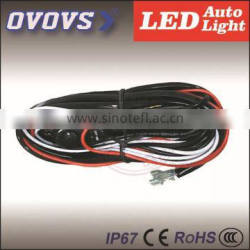 OVOVS wiring hardness control two lights with switch for led light bar/led work light