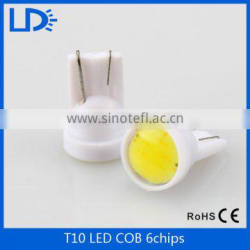 car accessories Auto T10 led lamps 1w T10 6chips COB LED bulb