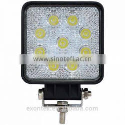 Hot selling 12v driving work light 27W led truck work light 27W led tractor working lights prompt shipment