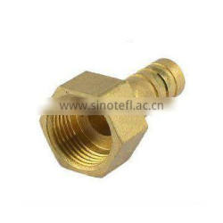 Gold Brass Fitting Hose Barb