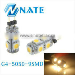2014 whole sale Hotsale g4 12v led bulb spotlight 12v with 9smd