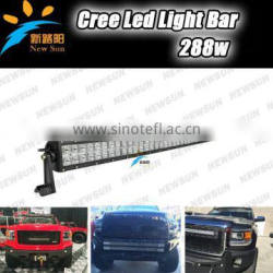 Factory Supply 50 inch 288W 4x4 Led Car Light Curved Led Light bar Off road 288w auto led light
