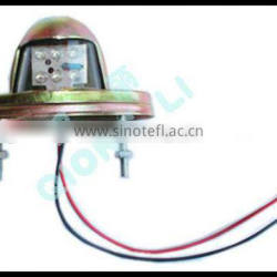 12/24V high quanlity round universal LED license lamp with metal plate