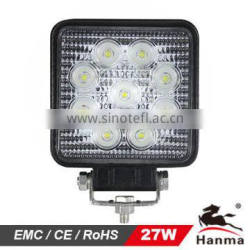 LED Work Light Lamp Off Road High Power ATV Jeep 4x4 Tractor 27W Round 30 Degree Square Spot/Flood Light