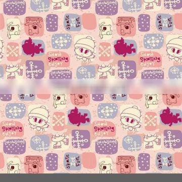 2014 New Style Polyester Disperse Reactive Print Fabric For Cartoon Swimwear