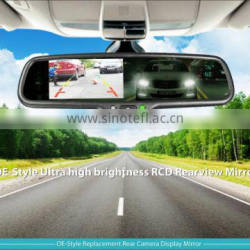 4.3 inch car rearview mirror auto-dimming monitor rear mirror with camera parking sensor