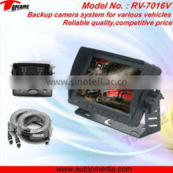 "Truck bluetooth reversing camera system with 7inch digital LCD monitor and 1/4"" CCD Camera"