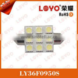 Festoon 5050 9SMD canbus car led lighting