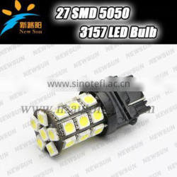 27 SMD 3157 LED auto light, 5 colors provide 3157 3057 3047 Car Back up Light Parking Turn Signal Reverse light replacement led
