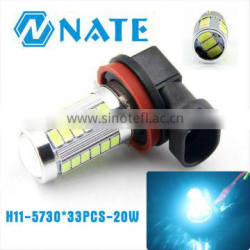 New coming and superbright H11/H3/ H8/9005/9006/880/881 led Fog Lamp 5730 Chip*33PSC 20W