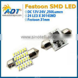 Best selling 3014 smd festoon bulb for universal car