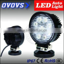 Excellent Round 12 volt 27w led work light with magnet for truck, tractor, suv