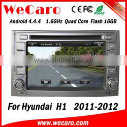 Wecaro WC-HH6224Android 4.4.4 car multimedia system double din car radio gps for hyundai h1 audio system 16GB Flash 2011 2012