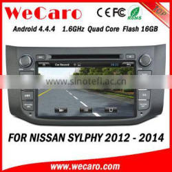 Wecaro WC-NU8053 Android 4.4.4 car multimedia system in dash for nissan sylphy car dvd player android bluetooth 2012 2013 2014