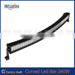 42inch 240W 4x4 C ree Led Car Light, Curved Led Light bar Off road,auto led light arch bent
