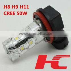 Top Brightness Originally led h11 h8 h9 bulb 50W