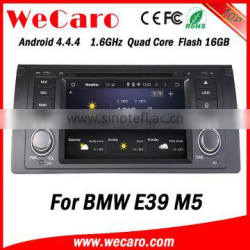 Newest Android 4.4.4 car dvd single din for bmw e39 car dvd android car stereo A9 cpu 1995-2003 Quality Choice