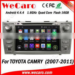 Wecaro WC-TC8006 Android 4.4.4 car dvd player touch screen for toyota camry navigation system android mirror link