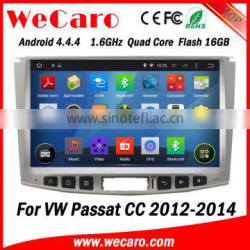 Wecaro WC-VU1011 Android 4.4.4 car dvd player touch screen for vw passat cc radio android A9 cpu 2012 2013 2014