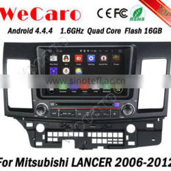 Wecaro WC-ML8062 android 4.4.4 touch screen car dvd gps for Mitsubishi Lancer ex 2006 - 2012 with radio 3G wifi playstore