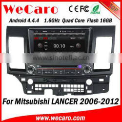 """Wecaro 8"""" Android 4.4.4 car dvd player quad core in-dash dvd player for mitsubishi lancer car stereo tv tuner 2006 - 2012"""