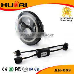 Super bright 45w J EEP Wranglers lights, 7 inch round led headlight 75w with Halo daytime running light