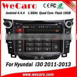 Wecaro WC-HI7028 Android 4.4.4 car dvd player touch screen new for hyundai i30 gps navigation WIFI 3G A9 cpu 2011-2013