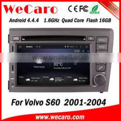 Wecaro WC-VL7060 Android 4.4.4 car multimedia system in dash for volvo s60 dvd gps navigation android bluetooth 2001-2004