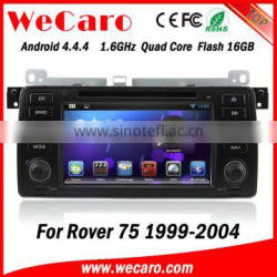 Wecaro Android 4.4.4 in dash touch screen car dvd player with gps for rover 75 car stereo audio WIFI 3G Mirror Link 1999 - 2004