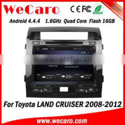 "Wecaro WC-TL9006 9"" Android 4.4.4 car multimedia system in dash car dvd player for toyota land cruiser prado android 2008-2012"