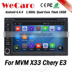 Wecaro WC-MC7230 Android 4.4.4 car navigation system touch screen for MVM X33 gps dvd android Wifi&3G