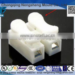plastic electronic parts Two clamp electronic CH2 quick terminals, push type connector for ceiling lamp.