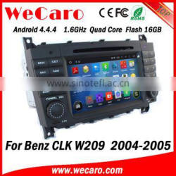 Wecaro WC-MB7508 Android 4.4.4 gps radio 1024*600 for mercedes w209 car dvd navigation 2004 2005 bluetooth