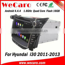 Wecaro WC-HI7028 Android 4.4.4 car multimedia system double din touch screen dvd with gps for hyundai i30 audio system