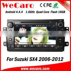 Wecaro WC-SS8081 Android 4.4.4 car stereo 2 din for suzuki sx4 multimedia system radio gps tv tuner 2006 - 2012