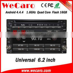 "Wecaro 6.2"" WC-2U6400 Android 4.4.4 car stereo quad core car dvd player tv tuner stereo mirror link"