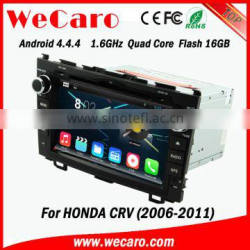 "Wecaro android 4.4.4 car dvd player China Factory 8"" car audio for honda crv mirror link 2006 - 2011"