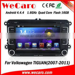 Wecaro Android 4.4.4 HD Capacitive screen wifi/3G car dvd gps navigation for VW TIGUAN 2007-2011