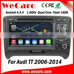 Wecaro android 4.4.4 touch screen car dvd with gps radio for audi tt 2006-2014